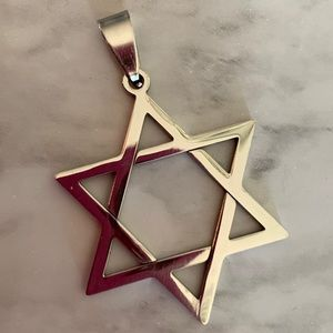 Star of David stainless steel pendant—FIRM PRICE